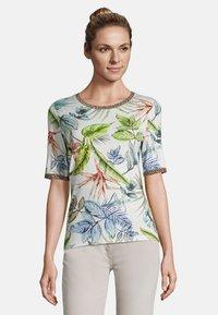 Betty Barclay - MIT BLUMENPRINT - Print T-shirt - cream/petrol - 0