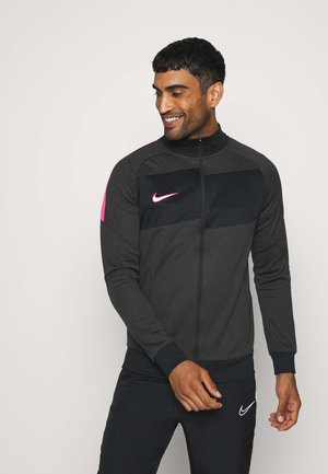 DRY ACADEMY - Training jacket - dark smoke grey/heather/hyper pink