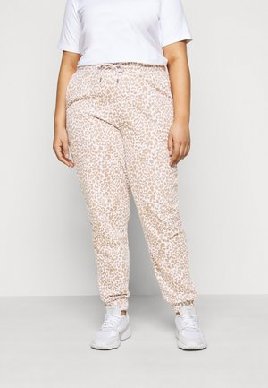 NMRAINY PANT - Tracksuit bottoms - bright white/praline