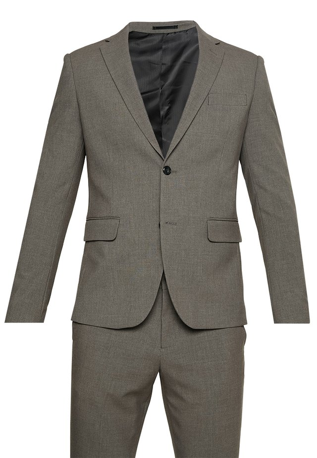 PLAIN MENS SUIT - Puku - light brown