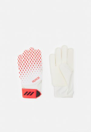 PREDATOR FOOTBALL KIDS GOALKEEPER GLOVES UNISEX - Goalkeeping gloves - white/pop