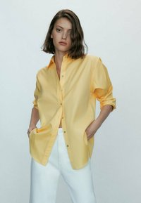 Massimo Dutti - Button-down blouse - yellow - 0