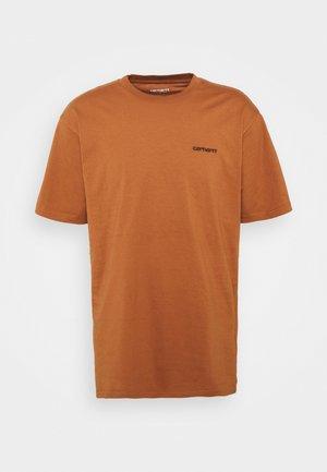 SCRIPT EMBROIDERY - Camiseta básica - rum/black