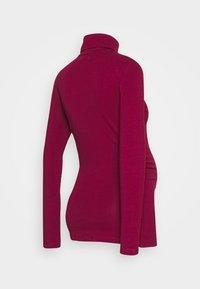 Anna Field MAMA - Langærmede T-shirts - beet red - 1