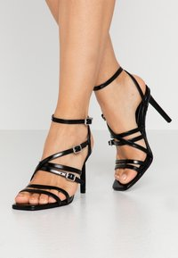 ONLY SHOES - ONLALYX  - High heeled sandals - black - 0