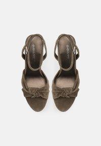 Even&Odd - LEATHER - High heeled sandals - khaki - 5