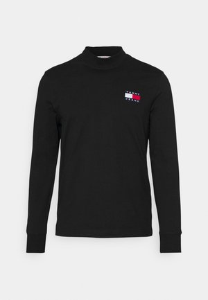 BADGE MOCK NECK LONGSLEEVE UNISEX - Langærmede T-shirts - black