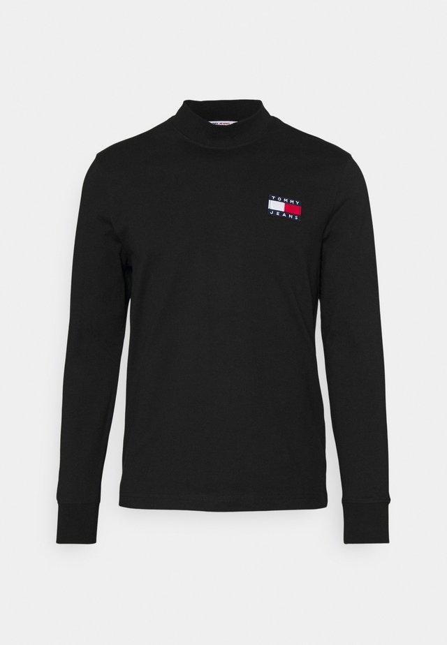 BADGE MOCK NECK LONGSLEEVE UNISEX - Maglietta a manica lunga - black