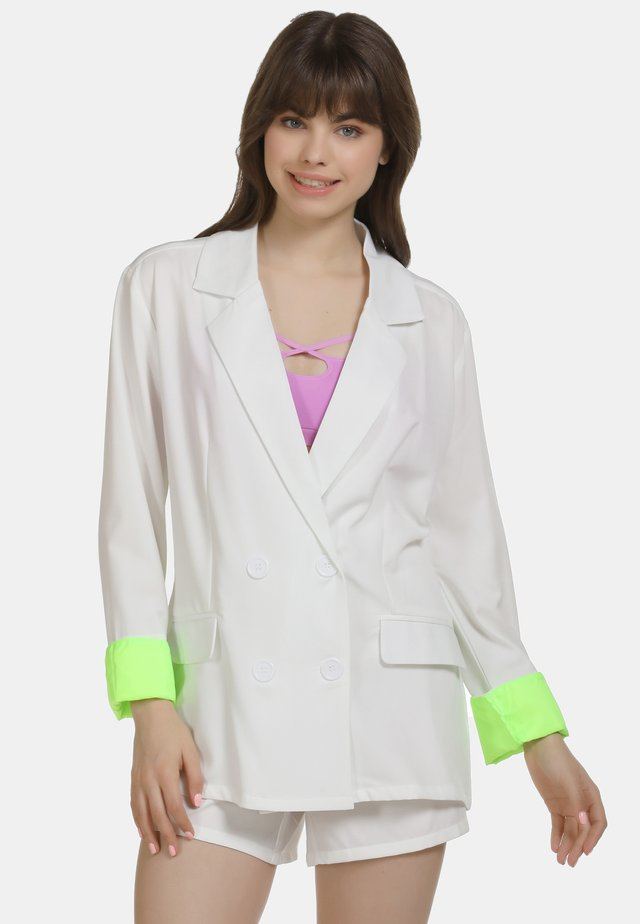 Blazer - white/neon green