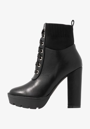 SKY - High heeled ankle boots - black