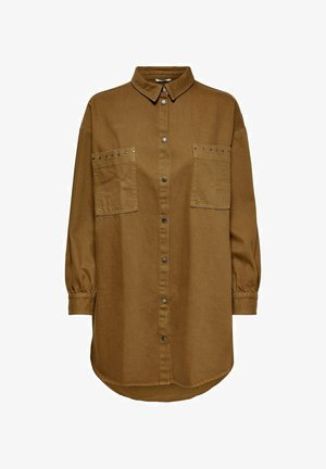 Button-down blouse - toffee