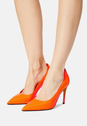 PATENT - Tacones - orange fluro