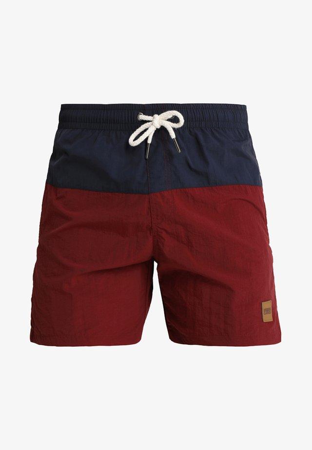 BLOCK SWIM - Shorts da mare - navy/burgundy