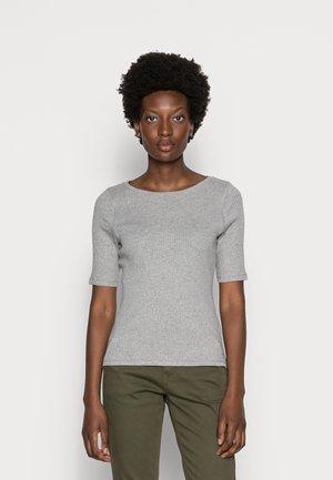 ISA O NECK - Basic T-shirt - grey melange