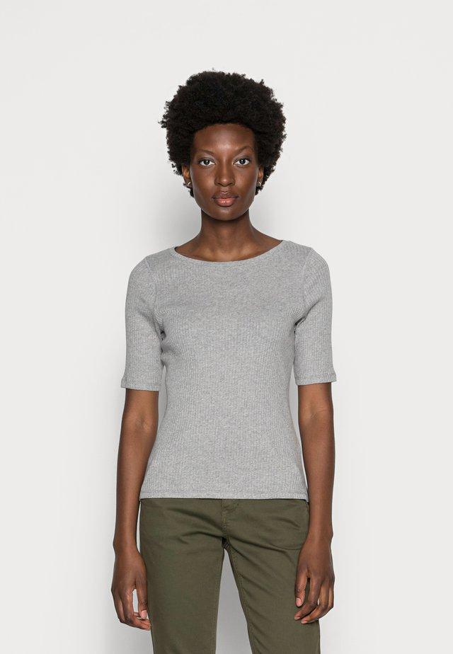 ISA O NECK - T-shirt basic - grey melange