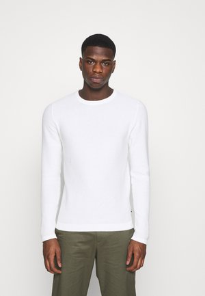JJEROB CREW NECK - Neule - cloud dancer
