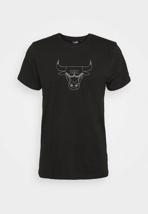 CHICAGO BULLS NBA REFLECTIVE PRINT TEE - Club wear - black