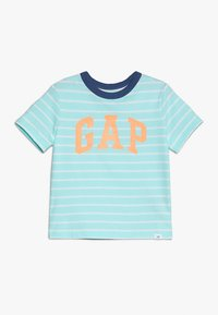 GAP - TODDLER BOY LOGO - T-shirt z nadrukiem - aqua - 0