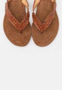 Tamaris - SLIDES - T-bar sandals - brandy - 5