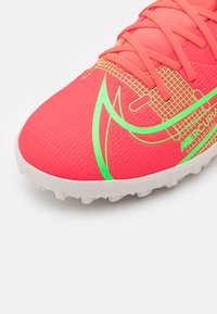 Nike Performance - MERCURIAL 8 CLUB TF - Astro turf trainers - bright crimson/metallic silver - 5