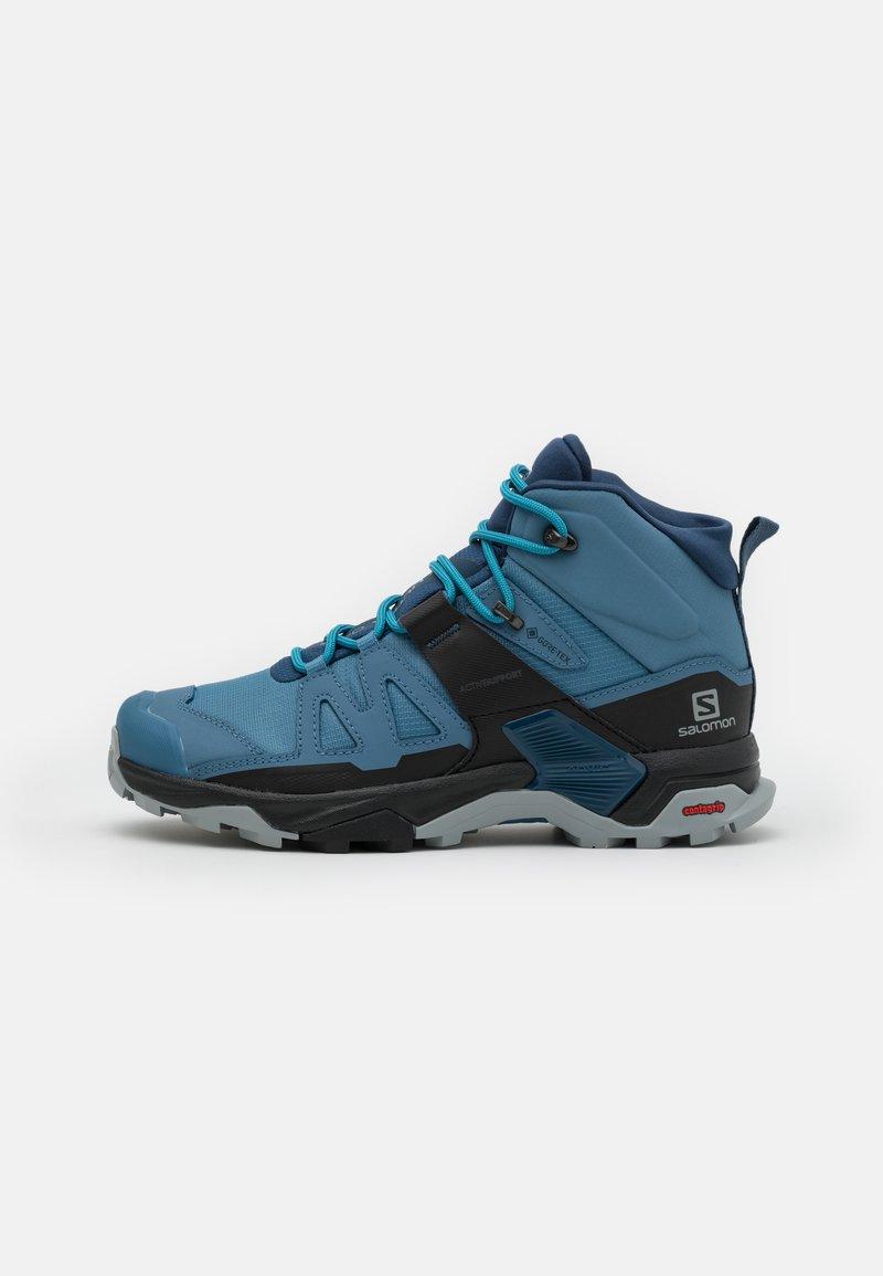 Salomon - X ULTRA 4 MID GTX - Hiking shoes - copen blue/black/dark denim