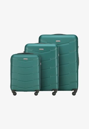 SET TRAVEL - Wheeled suitcase - grün