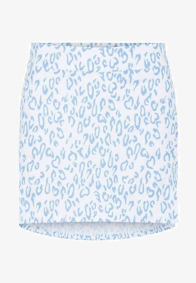 Sports skirt - animal blue white