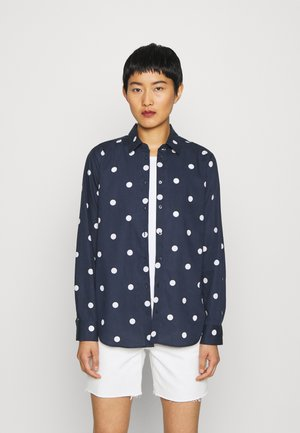 LANGARM - Button-down blouse - navy