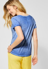 Cecil - Basic T-shirt - blau - 2