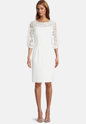 MIT SPITZE - Cocktail dress / Party dress - ivory white