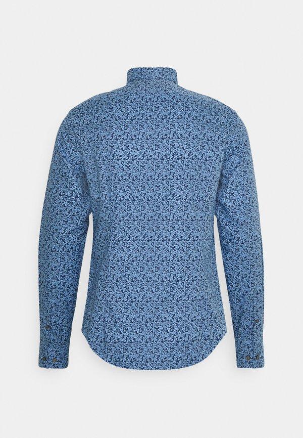 Calvin Klein Tailored FLOWER SLIM SHIRT - Koszula - blue/niebieski Odzież Męska YMAA