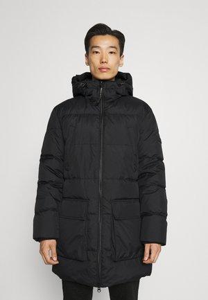 JACKET REGULAR FIT FULLY LINED HOOD WAY - Down coat - black