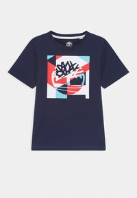 Timberland - SHORT SLEEVES TEE - Print T-shirt - navy - 0