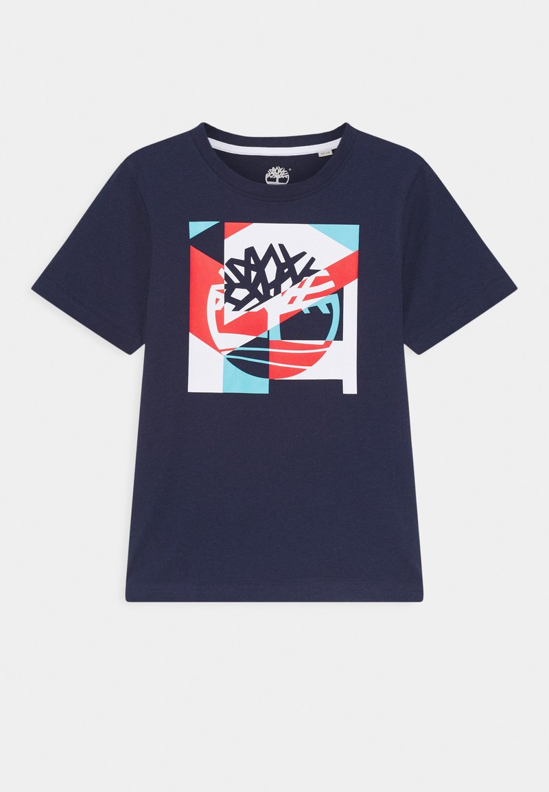 Timberland - SHORT SLEEVES TEE - Print T-shirt - navy