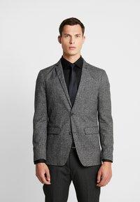 Esprit Collection - CHECK BLAZER - Blazer jacket - dark grey - 0