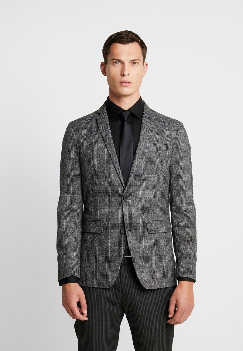 Esprit Collection - CHECK BLAZER - Blazer jacket - dark grey