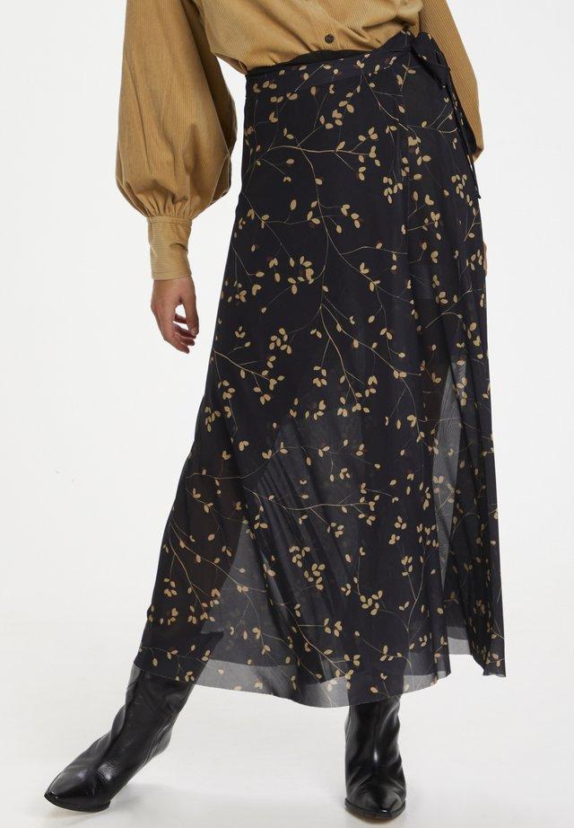 SLCONSUELA  - A-line skirt - black leafy twig