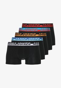Jack & Jones - JACWAISTBAND TRUNKS 5 PACK - Panties - black/fiery red/lipstick red/flame orange/nautical blue/blue jewel/white - 4