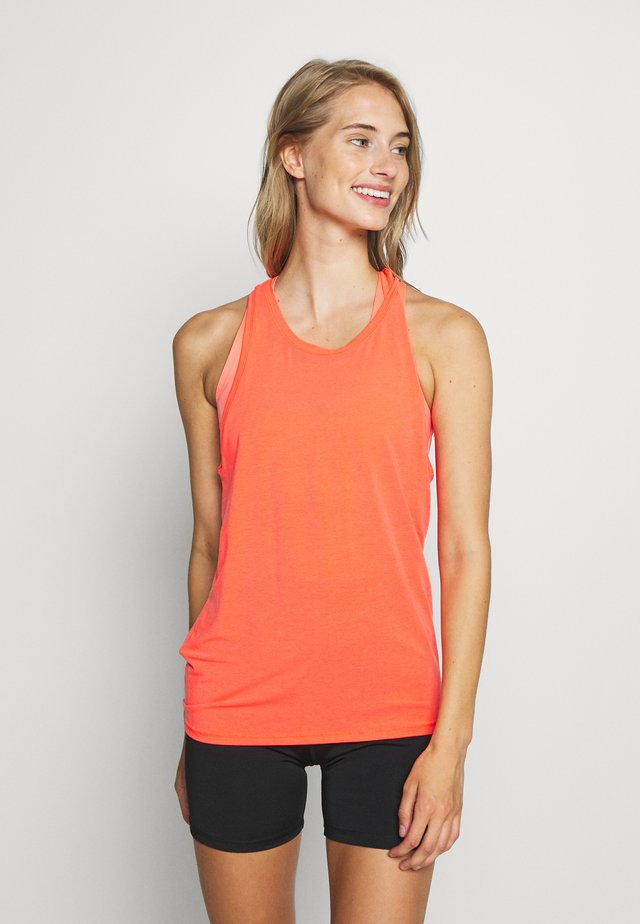 TIE BACK TANK NON HOT - T-shirt sportiva - fiery coral neon