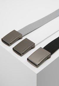 Urban Classics - 3 PACK - Belt - black/grey/white - 2