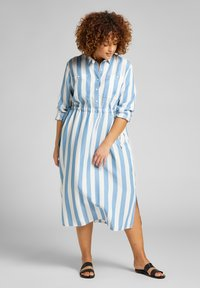 Lee Plus - LONG WORKER  - Shirt dress - dawn blue - 2