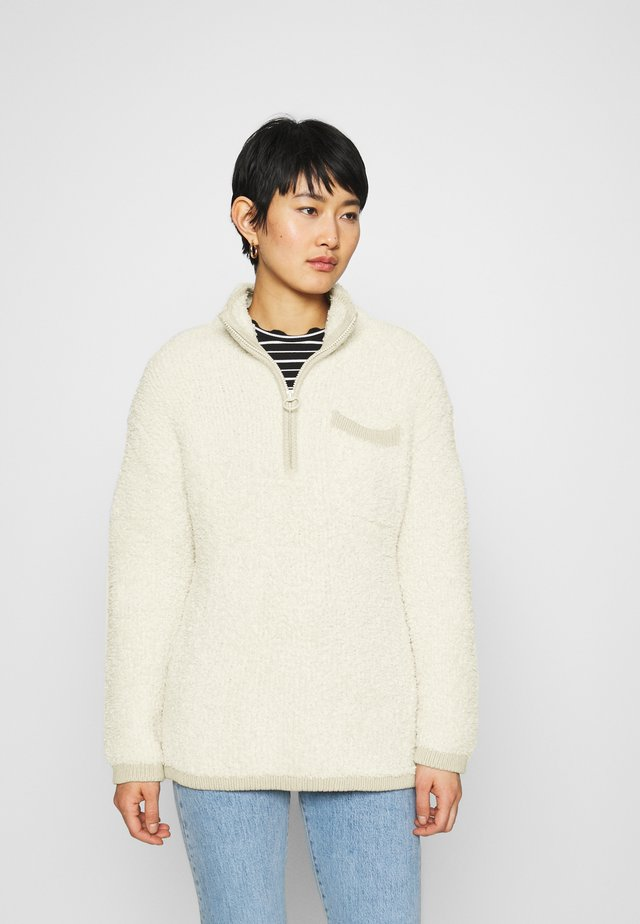 QUARTER ZIP - Pullover - natural