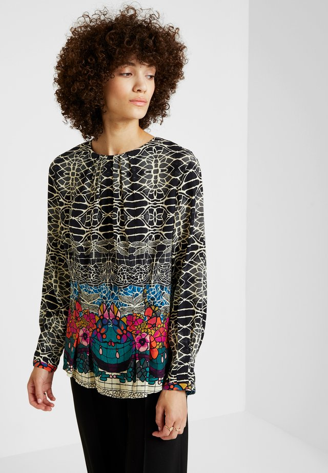 PRINTED BLOUSE - Camicetta - black