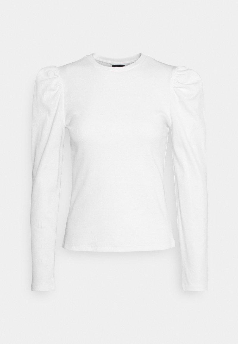 Pieces - PCANNA - Topper langermet - bright white