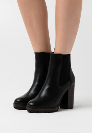 ONLTAYA STACKED BOOT - High heeled ankle boots - black