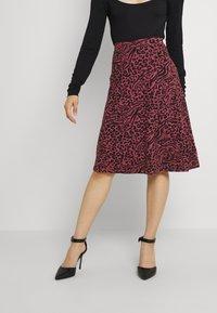 Even&Odd - A-line skirt - pink/black - 0