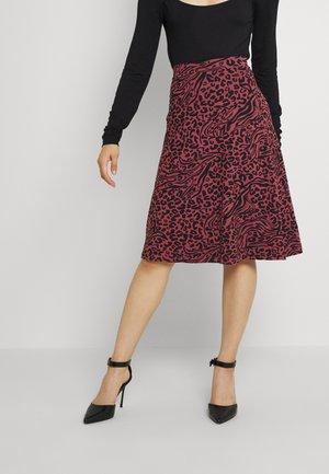 A-line skirt - pink/black