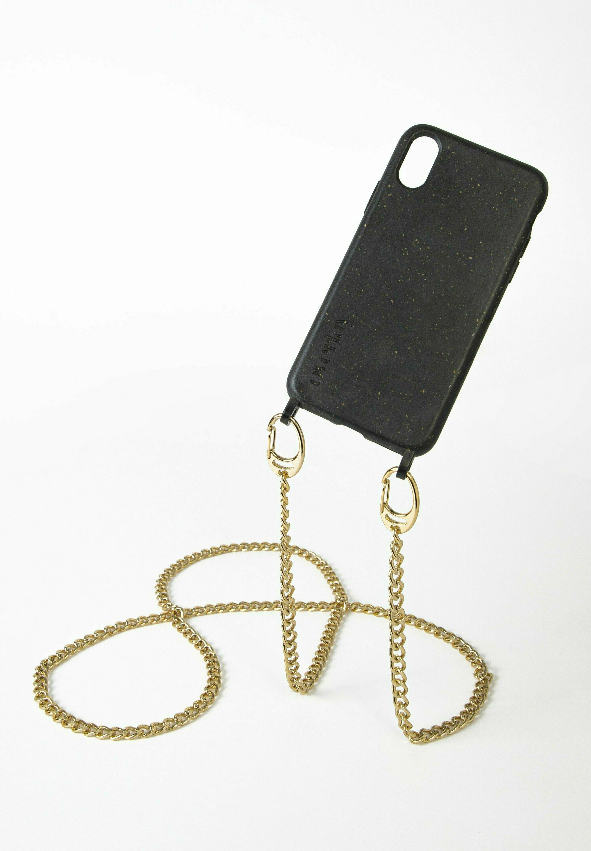 Damen IPHONE X / XS - BIOLOGISCH ABBAUBAR - BLACK MISTER T. GOLD - Handytasche