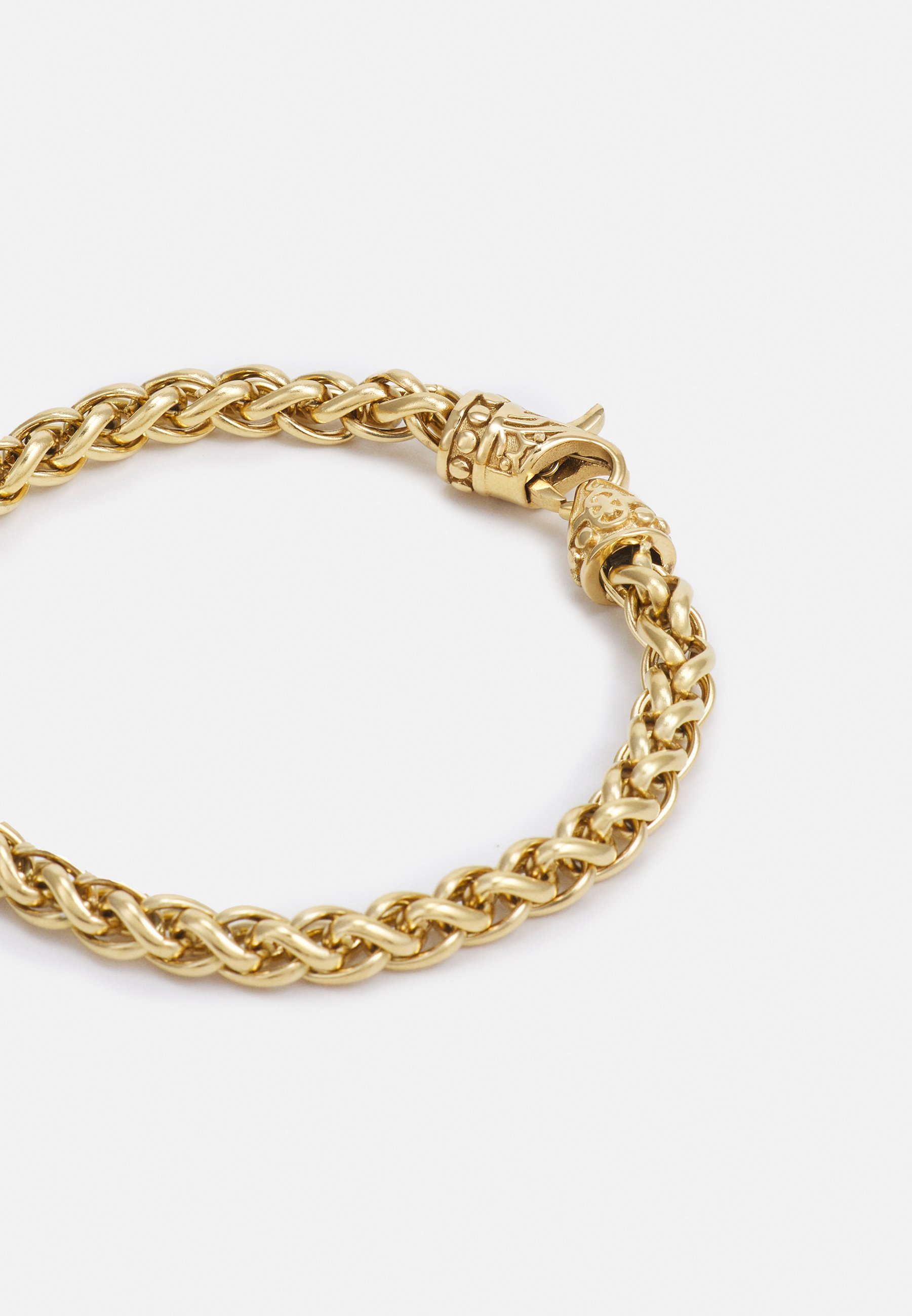 Homme SQUARE CHAIN WITH ADORNED LOBSTER CLASP LOCK - Bracelet