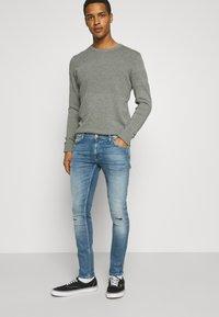 Nudie Jeans - TIGHT TERRY - Jeans Skinny Fit - mended ink - 3